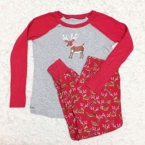 American Girl Reindeer Christmas Pajama Set 10W